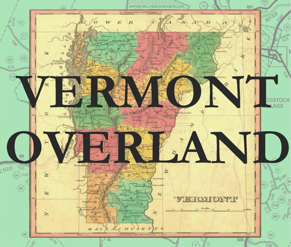 VOGP poster based on early Vermont map