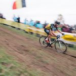 Sven Nys pulled away from the start of the race and kept a sizeable gap between him and a six-strong chasing group behind him.