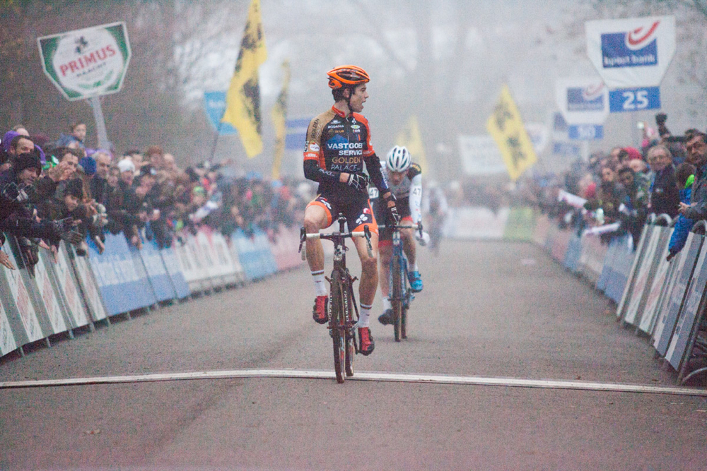 They young Wout Van Aert showed today that he can win on flat and fast courses.
