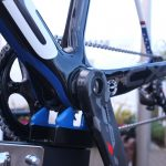 Weight saving at the cranks. Powres runs a single CX-1 ring, but fixed to a Sram Red crank
