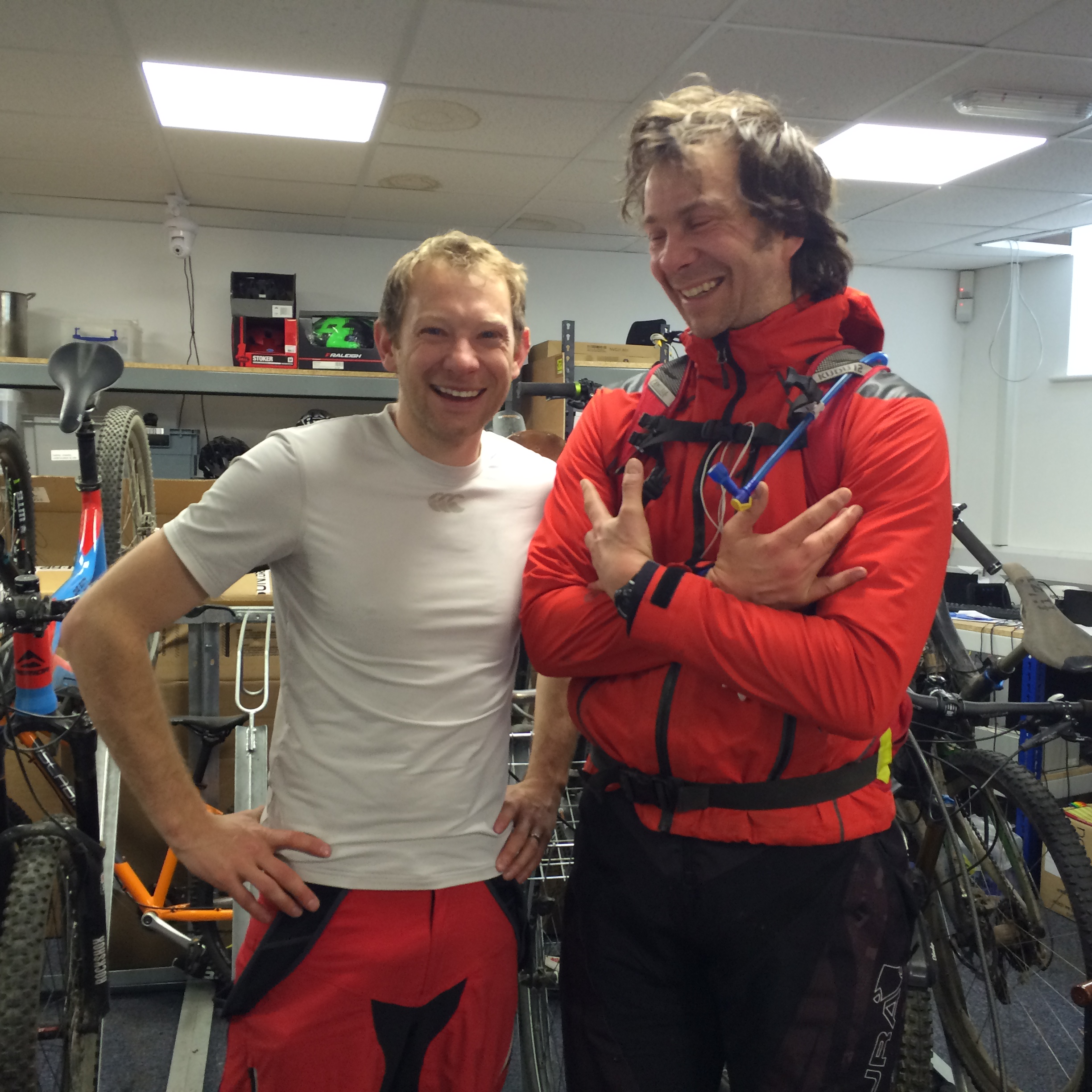 Two happy ride-to-workers at Grit HQ.