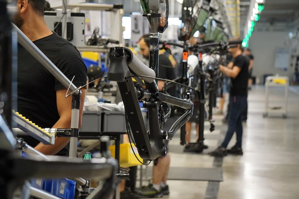 canyon bicycles factory floor